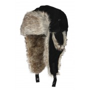 Eiger Fur Hat Black